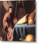 Artist In His Studio 1632 Metal Print