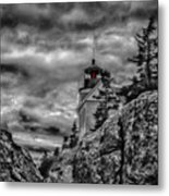 Artistic Bass Harbor Lighthouse In Acadia Metal Print