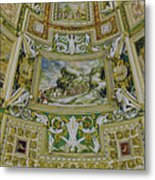 Artistic Ceilings Within The Vatican Museums In The Vatican City Metal Print