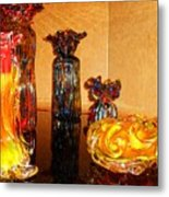 Artistic Glass 2 Metal Print