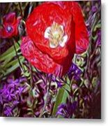 Artistic Kentucky Red Poppy Metal Print