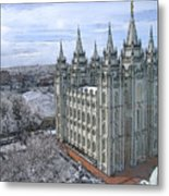 Artistic Rendering Of The Salt Lake City Lds Temple Metal Print