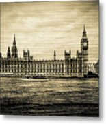 Artistic Vision Of Elizabeth Tower Big Ben And Westminster Metal Print
