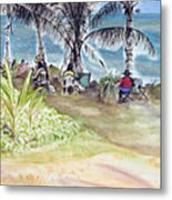 Artists By The Sea Metal Print