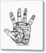 Artists Hand Variation I Metal Print