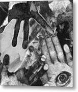 Artist's Hands Metal Print