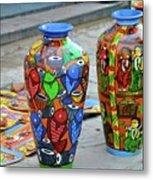 Artwork Large Vase Metal Print