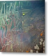 Artwork Representing The Disappeared Located Under A Bridge In Buenos Aires-argentina  Metal Print