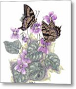 As Close To The Flowers Metal Print