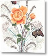As I Ride The Butterfly Metal Print