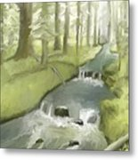 As I Sat By A Brook And Pondered Metal Print