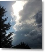 As The Clouds Move Across The Sky Metal Print