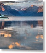 As The Day Ends At West Glacier Metal Print