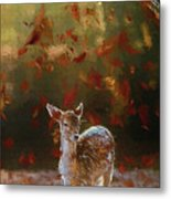 As The Leaves Fall - Painting Metal Print