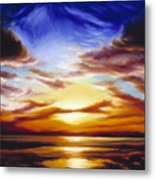 As The Sun Sets Metal Print