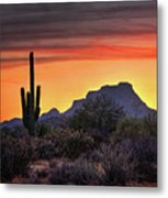 As The Sun Sets On Red Mountain  Metal Print