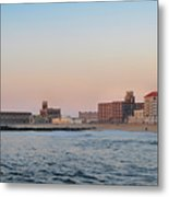 Asbury Park Boardwalk From The Beach Metal Print