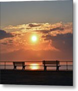 Asbury Park Boardwalk Sunrise Metal Print