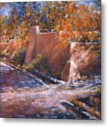 asequia Madre in Fall Metal Print