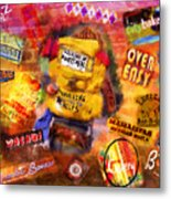 Asheville Eats Metal Print by Marilyn Sholin