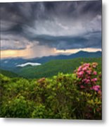 Asheville North Carolina Blue Ridge Parkway Thunderstorm Scenic Mountains Landscape Photography Metal Print