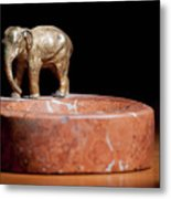 Ashtray With Elefant Metal Print