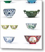Asian Art Chinese Pottery - Bowls Metal Print