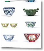 Asian Art Chinese Pottery Metal Print