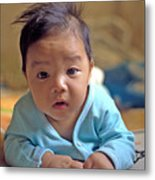 Asian Baby Metal Print by Atul Daimari