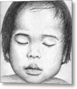 Asian Baby Metal Print