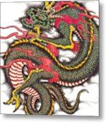 Asian Dragon Metal Print by Maria Arango