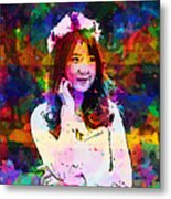 Asian Girl With Crown  Metal Print