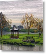 Asian Landscape Metal Print
