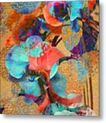 Asian Orchid Abstract Metal Print
