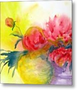 Asian Peonies Metal Print