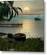 Asian Sunset Scene Metal Print
