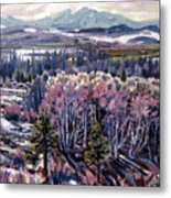 Aspen In April Metal Print