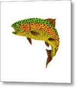 Aspen Leaf Rainbow Trout 1 Metal Print