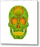 Aspen Leaf Skull 10 Metal Print