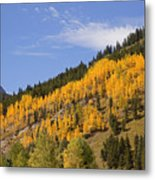 Aspen Ridge San Juan Mountains Metal Print