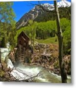 Aspens Around The Crystal Mill Metal Print
