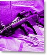 Assault Rifle Metal Print