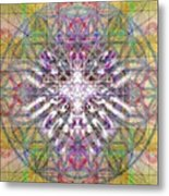 Assent From The Womb In The Flower Tree Of Life Metal Print