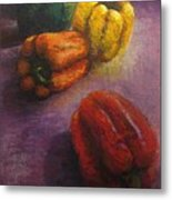 Assorted Peppers Metal Print