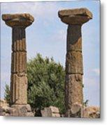 Assos Temple Of Athena Columns Metal Print