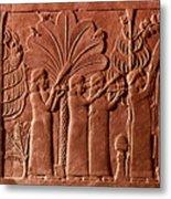 Assyrian Queen, 645 B.c Metal Print