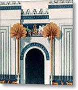 Assyrian Temple Metal Print
