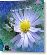 Aster ,  Greeting Card Metal Print