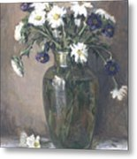 Asters And Daisies Metal Print