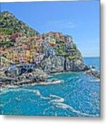 Astonishing Magnificient Manarola In Cinque Terre Metal Print
